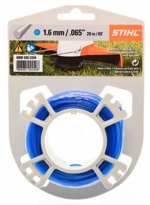 Stihl Carded Strimmer Line - Blue - 1.6mm x 20m