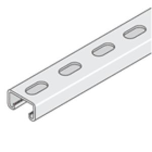 P3300T3 41 x 21 Galvanised Channel 2.5 Slotted - 3 Metre