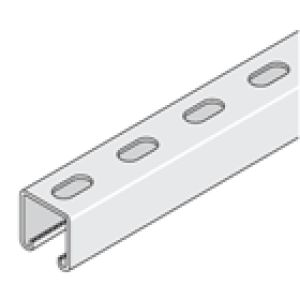 P1000T 41 x 41 Galvanised Channel 2.5 Slotted - 3 Metre
