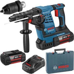 Bosch GBH 36 VFLI Plus 36V Professional Cordless Rotary Hammer plus 2 x 6.0Ah Batteries