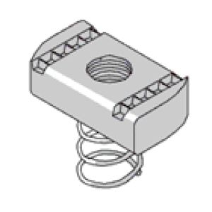 M12 Short Spring Channel Nuts BZP