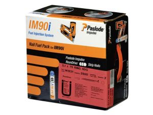 Paslode 141074 IM360 3.1mm x 90mm Ring Galvanised Nails x 2200 and 2 Fuel Cells