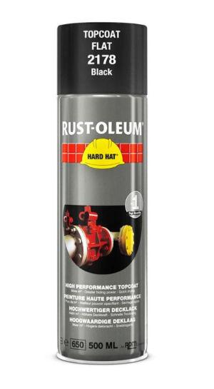 Rust-Oleum 2178 Flat Black Spray Paint - 500ml
