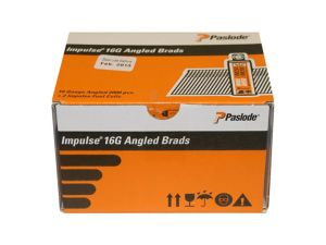 Paslode 300280 16g x 64mm Stainless Steel Angled Brad 2000 per box + 2 fuel cells