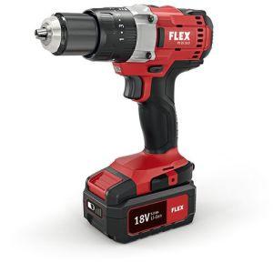 Flex PD 2G 18V 2 Speed Percussion Drill c/w 2 x 5.0Ah Batteries