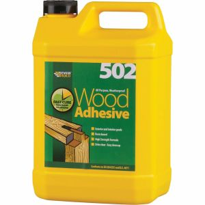 5 Litre Waterproof PVA 502 Wood Adhesive