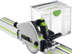 Festool 561584 TS55 REQ-Plus-FS Plunge Saw with Guide Rail in Systainer 110V