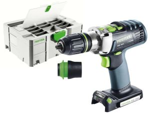 Festool PDC 18/4 Li-Basic 18V Cordless Percussion Drill in Systainer - Bare Unit