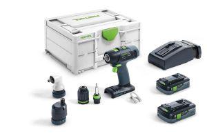 Festool Cordless Drill T 18+3 HPC 4.0 I-Set