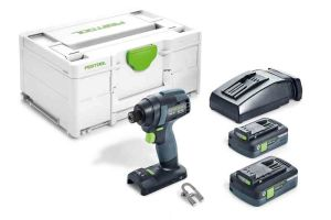 Festool 576484 Cordless Impact Drill TID 18 HPC I-Plus 2 x 4.0Ah Batteries