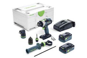 Festool 576775 18V Cordless Percussion Drill Quadrive TPC 18/4 5.2/4.0 I-Set SCA