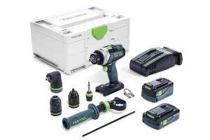Festool 576776 Cordless Percussion Drill Quadrive TPC 18/4 5.2/4.0 I-Set/XL-SCA