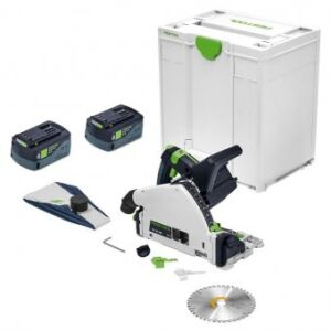 Festool 577025 TSC55 KEB-Basic 18V Cordless Plunge Saw c/w 2 FOC 5.2Ah Batteries