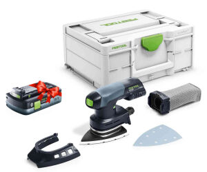 Festool 577029 18V Cordless Delta Sander DTSC 400-Basic + FOC 4.0Ah Battery