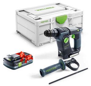Festool 577057 18V Cordless Hammer Drill BHC 18-Basic c/w FOC 4.0Ah Battery