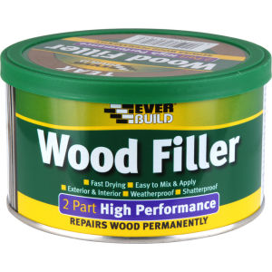 Everbuild 2 Part High Performance Wood Filler - Stainable Medium - 500g