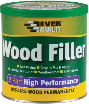 Everbuild 2 Part High Performance Wood Filler - White - 1.4Kg