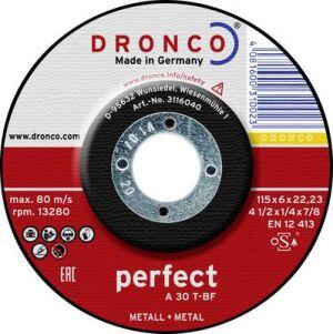"115 (4.5"") x 6.4 x 22.2mm Bore Metal Grinding DPC Abrasive Wheel"