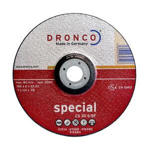 "115 (4.5"") x 6.4 x 22.2mm Bore Stone Grinding DPC Abrasive Wheel"
