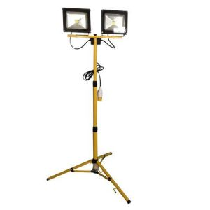 LED Single Head Telescopic Tripod Floodlight 2 x 20W 110V
