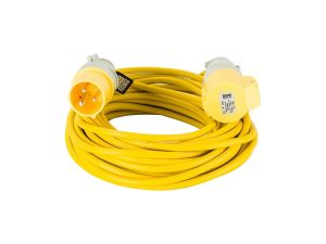 14m x 2.5 16A 110V Yellow Arctic Extension Lead
