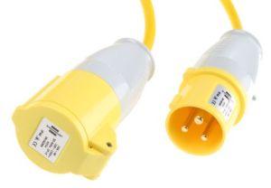 110V Plug 32 Amp Yellow