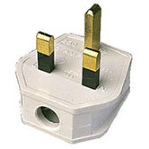 13A Plastic Plug 240V White