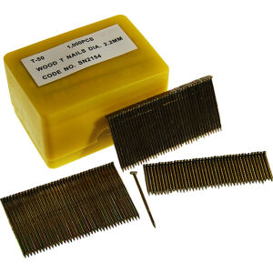 Alpha Pneumatic - 2.2 x 38mm - T-Nails - Wood - Box of 1000