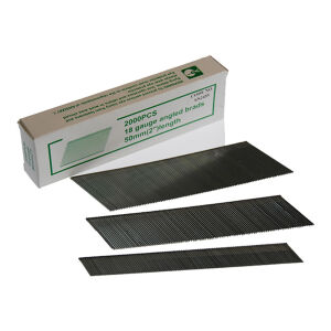 Alpha Pneumatic - 18 Gauge x 32mm - Collated Brad Finish Nails - Angled - Galvanised - Pack of 3000