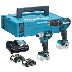 Makita CLX205AJ 12Vmax CXT 2 Piece Combo Kit 2 x 2.0 Batteries
