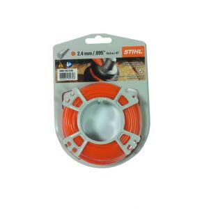Stihl Carded Strimmer Line - Orange - 2.4mm x 14m