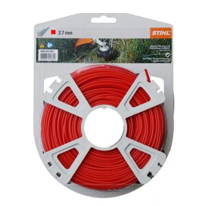 Stihl Carded Strimmer Line - Red - 2.7mm x 65m