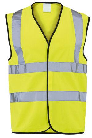 Class 2 Waistcoat - Reflective Yellow - Large