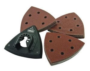 Smart HS93KIT - 93mm - 31 Piece Kit - Triangular Sanding Sheets & Backing Pad