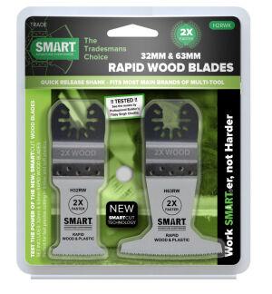 Smart H2RWK - 2 Piece Rapid Blade Set - Wood/Plastic