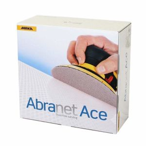 Mirka Abranet Ace 150mm P120 Velour Disc (Box 50)