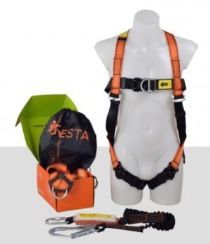 Aresta Scaffolder Kit 2S - Double Point, Standard Buckle Harness - Elasticated Webbing Lanyard