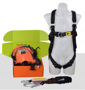 Aresta Scaffolder Kit 6E - Double Point Elasticated Harness - Elasticated Webbing Lanyard - Kit Bag