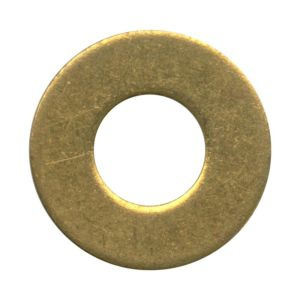 M4     Brass Flat Washers (Sold Individually)