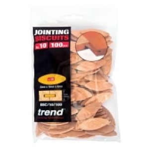 Trend BSC/10/100 - No 10 Compressed Beech Biscuits - 100 Pack