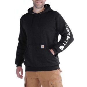 Carhartt Logo Hooded Sweatshirt - Black - Medium