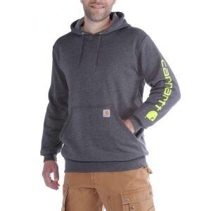 Carhartt Logo Hooded Sweatshirt - Carbon Heather - X-Small