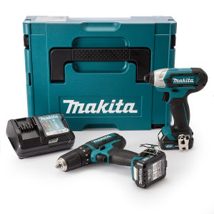 Makita CLX202AJ 2 Piece 10.8V CXT Li-Ion Cordless Kit