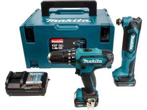 Makita CLX203AJX1 10.8V CXT Combi Drill - 2 Piece Kit C/W 2 x 2.0Ah Batteries