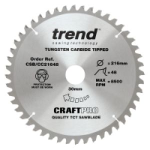 Trend CSB/CC21648 Craft Pro Saw Blade 216mm Diameter - 30mm Bore - 48 Tooth