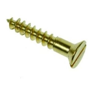 10 x 1 1/4 Brass CSK Woodscrews (Box Of 200)