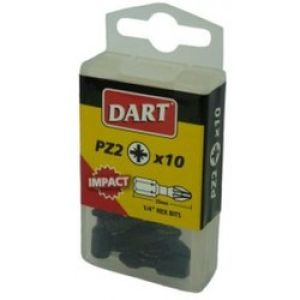 Dart Pozi 2 Impact Driver Bits - Pack Of 10