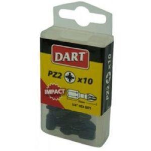 Dart Pozi 1 25mm Impact Driver Bits - Pack Of 10