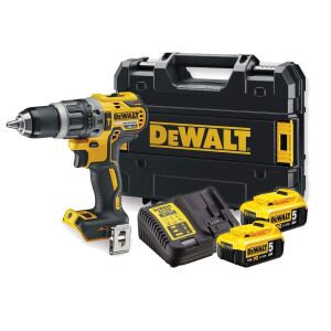 DeWalt DCD796P2 18V XR Brushless Combi Drill Inc 2 x 5.0Ah Batteries