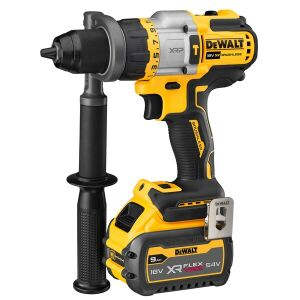 DeWalt DCD999X1 18V XR High Power Hammer Drill Driver inc 9.0Ah Battery, Charger & TSTAK Kitbox
